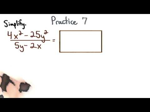 Simplify Rational Expressions Practice 7 - Visualizing Algebra thumbnail