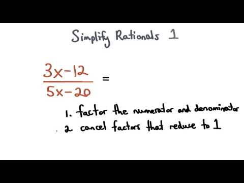 Simplify Rationals Expressions 1 thumbnail