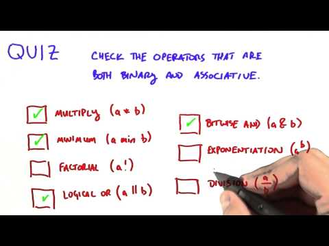 Binary and Associative Operators - Intro to Parallel Programming thumbnail