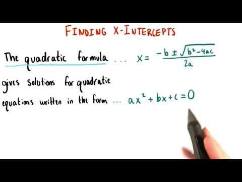 The Quadratic Formula - College Algebra thumbnail