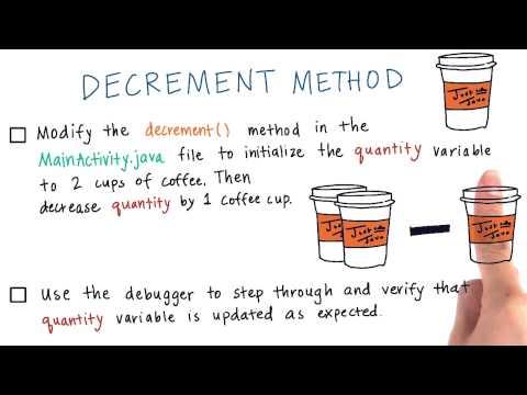 Modify the decrement() Method thumbnail