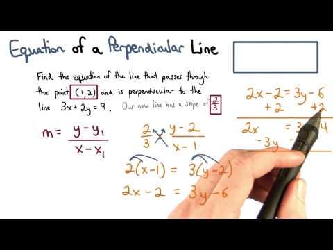 Equation of a Perpendicular Line - Visualizing Algebra thumbnail