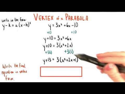 Final Answer in Vertex Form - College Algebra thumbnail