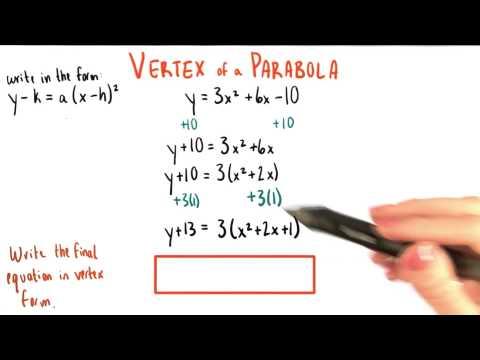 Final Answer in Vertex Form - College Algebra thumbnail