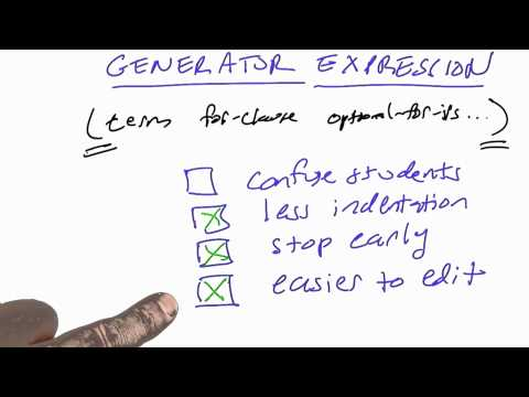 02-26 Generator Expressions Solution thumbnail