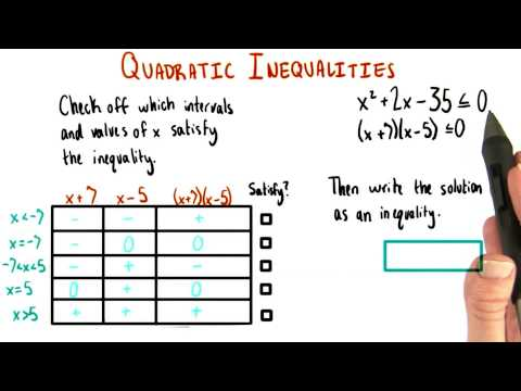 Solution as an Inequality - College Algebra thumbnail