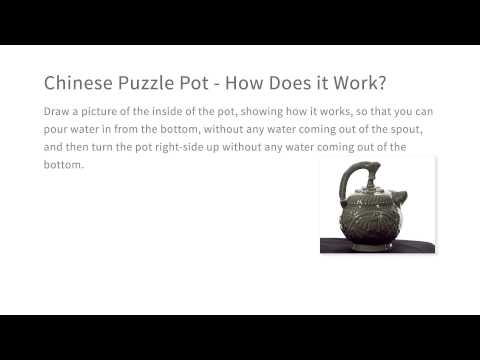 Chinese Puzzle Pot - How Does it Work - Intro to the Design of Everyday Things thumbnail