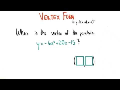 Tell me the vertex - College Algebra thumbnail
