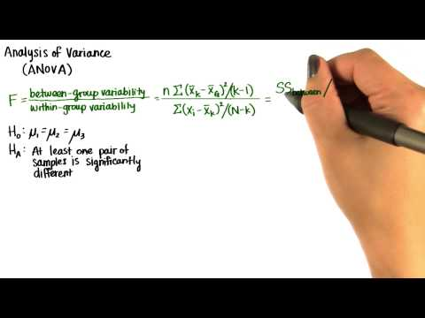 Formula for F-Ratio - Intro to Inferential Statistics thumbnail