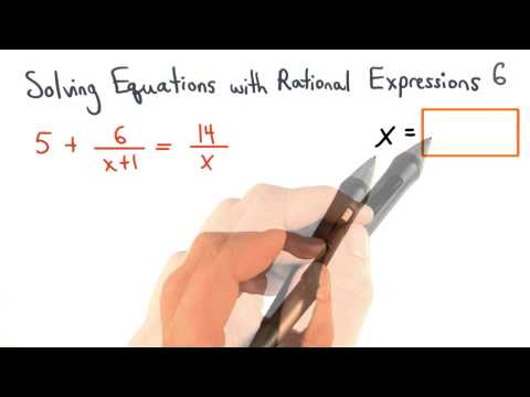 Solving Equations with Rational Expressions Practice 6 - Visualizing Algebra thumbnail