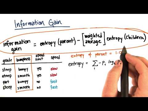 Information Gain Calculation Part 7 - Intro to Machine Learning thumbnail