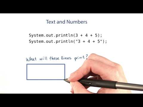 Text and Numbers - Intro to Java Programming thumbnail