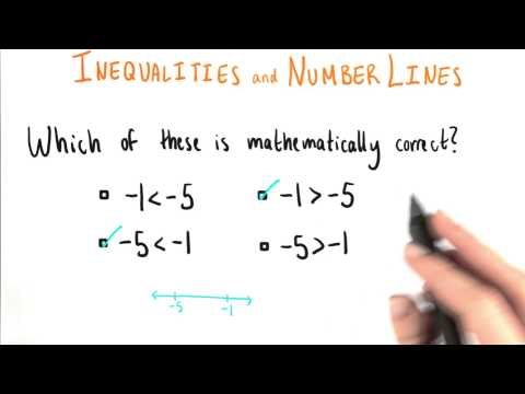 Inequalities and Number Lines - College Algebra thumbnail
