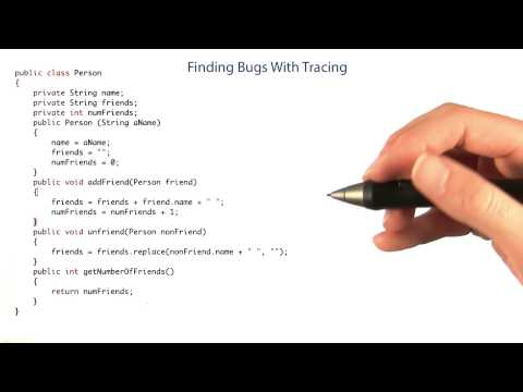 Finding Bugs with Tracing Part 1 - Intro to Java Programming thumbnail