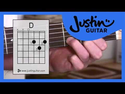 The D Chord (Guitar Lesson BC-111) Guitar for beginners Stage 1    thumbnail