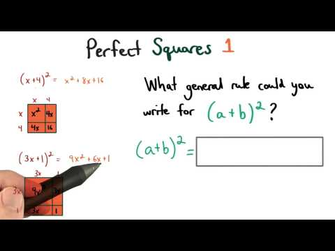 Perfect Squares Pattern 1 - Visualizing Algebra thumbnail