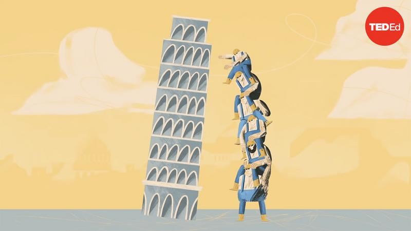 Why doesn't the Leaning Tower of Pisa fall over? thumbnail