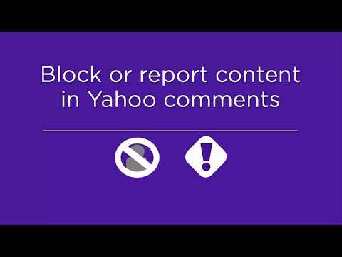 Block or report content in comments on Yahoo thumbnail