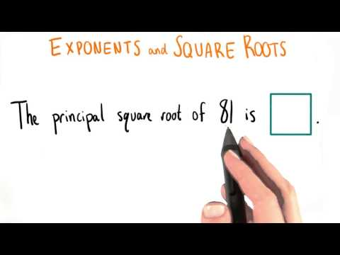 Principal Square Roots - College Algebra thumbnail