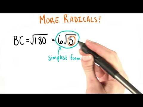Simplifying Radicals - College Algebra thumbnail