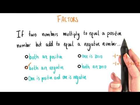 Positive Product but Negative Sum - College Algebra thumbnail
