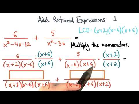 Add Rational Expressions Multiply 1 - Visualizing Algebra thumbnail