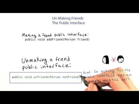 Unfriend a Friend - Intro to Java Programming thumbnail