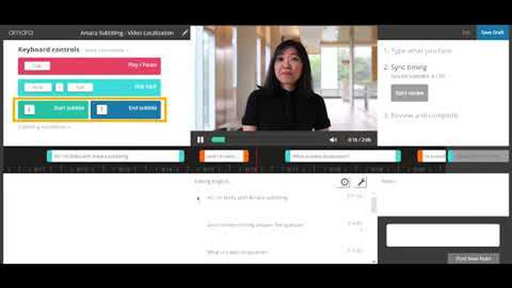 Amara Editor: Caption a video