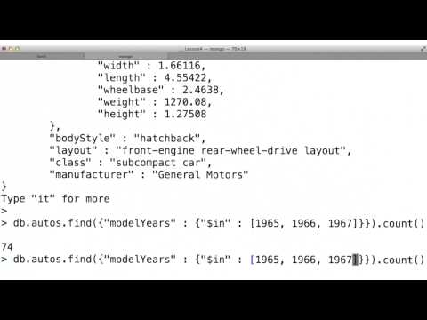 in Operator - Data Wranging with MongoDB thumbnail