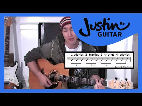 Triplet Rhythms (Guitar Lesson BC-155) Guitar for beginners Stage 5 thumbnail