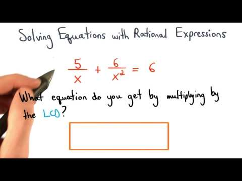 Multiplying Equations by the LCD thumbnail