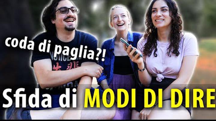 STRANIERI cercano di capire MODI DI DIRE italiani!