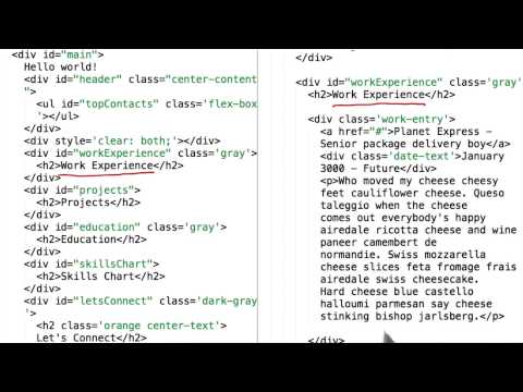 The Resumes HTML - JavaScript Basics thumbnail
