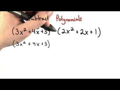 Subtract Polynomials thumbnail