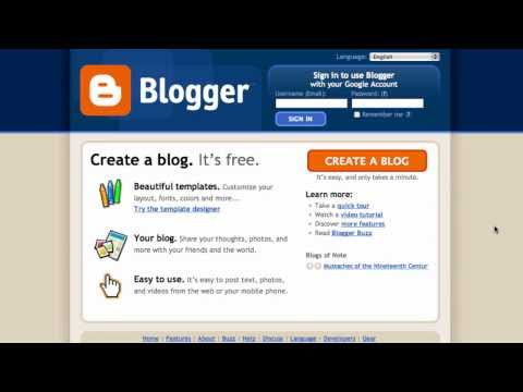 Setting up a simple blog in Blogger - Technical glossary thumbnail