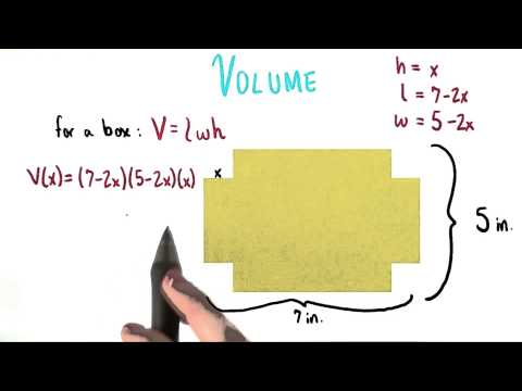 Volume of Athenas Box - College Algebra thumbnail