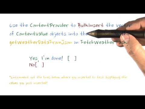 05-28 BulkInserts with ContentProvider - Quiz thumbnail