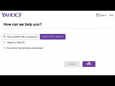 I forgot my Yahoo password thumbnail