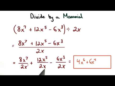 Divide by a Monomial - Visualizing Algebra thumbnail