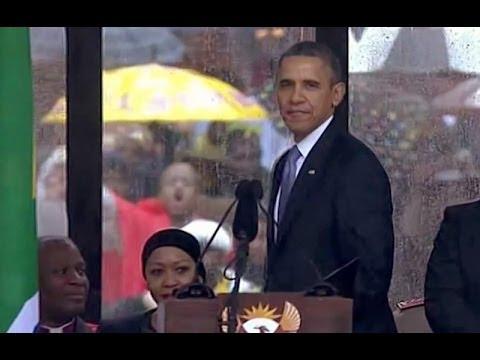 President Obama Speaks at a Memorial Service for Nelson Mandela thumbnail