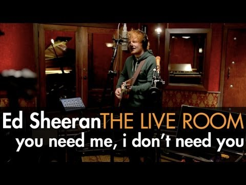 "Ed Sheeran - ""You Need Me, I Don't Need You"" captured in The Live Room thumbnail"