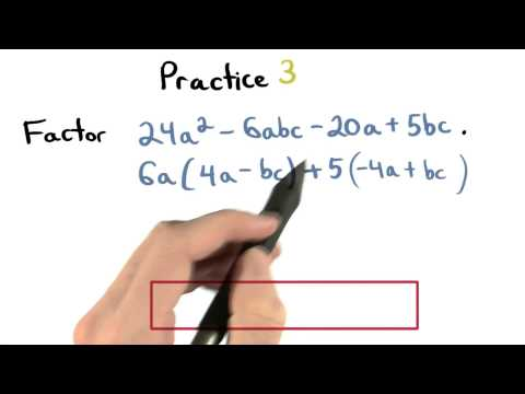 Factor by Grouping Practice 3 - Visualizing Algebra thumbnail