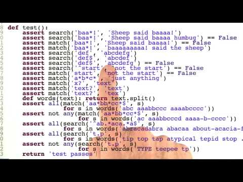 Regular Expressions Review - Quiz 1 - Design of Computer Programs thumbnail