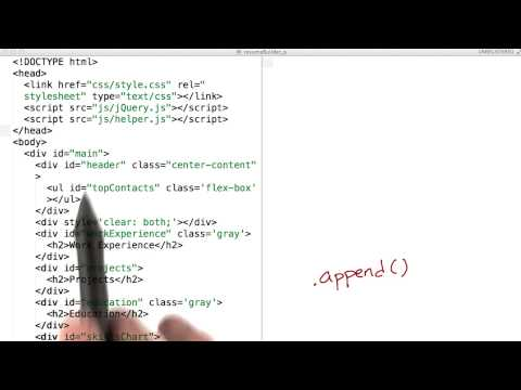 Using append() to Build a Page - JavaScript Basics thumbnail