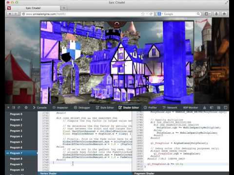 WebGL Shader Editor, Unreal Engine demo  - Firefox Developer Tools thumbnail