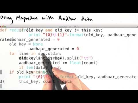 Mapper and reducer with aadhar data thumbnail