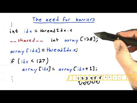 The Need For Barriers - Quiz - Intro to Parallel Programming thumbnail