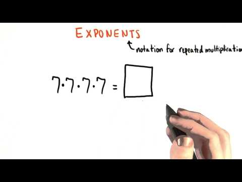 Exponent Notation - College Algebra thumbnail