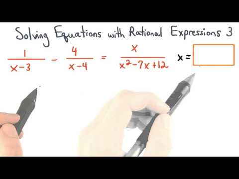 Solving Equations with Rational Expressions Practice 3 - Visualizing Algebra thumbnail