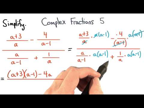 Complex Fractions Practice 5 - Visualizing Algebra thumbnail